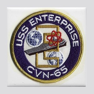 USS Enterprise CVN 65 Tile Coaster