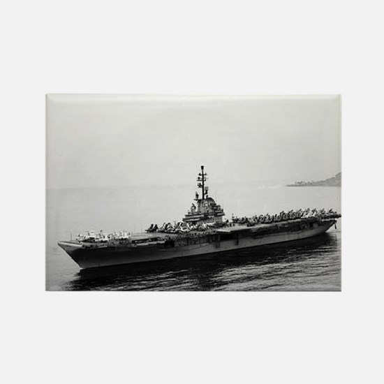 USS Essex Ship's Image Rectangle Magnet