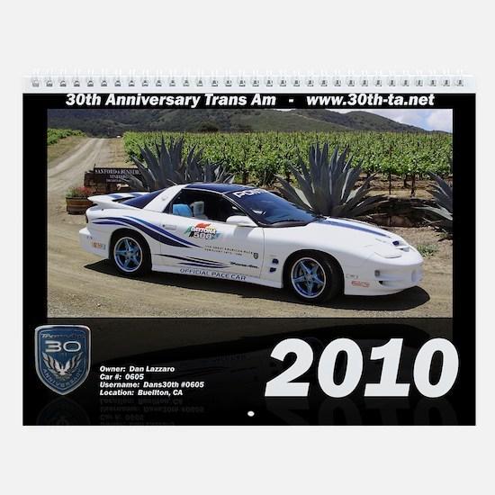 30th Anniversary Trans Am Wall Calendar