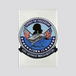 USS George Washington CVN 73 Rectangle Magnet