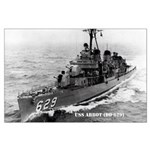 USS ABBOT Large Poster