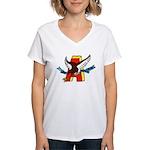 USS ABBOT Women's V-Neck T-Shirt