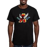 USS ABBOT Men's Fitted T-Shirt (dark)