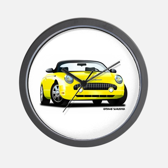 2002 05 Ford Thunderbird yellow Wall Clock
