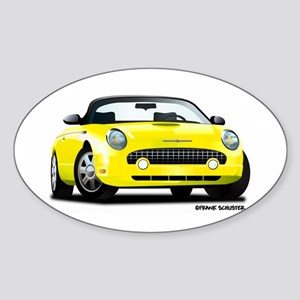 2002 05 Ford Thunderbird yellow Oval Sticker