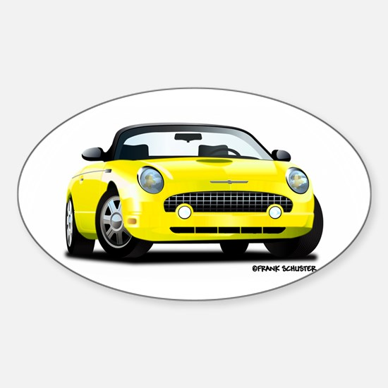 2002 05 Ford Thunderbird yellow Oval Decal