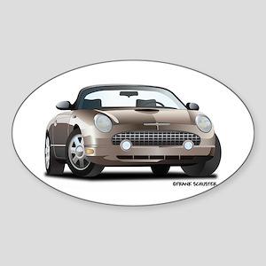 2002 05 Ford Thunderbird Hardtop Oval Sticker