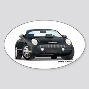 2002 05 Ford Thunderbird Blk Oval Sticker