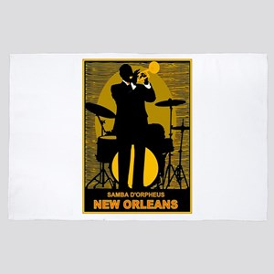 Samba D'Orpheus New Orleans Trumpet Player 4' x 6'