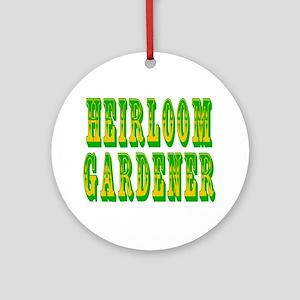 Heirloom Gardener Ornament (Round)