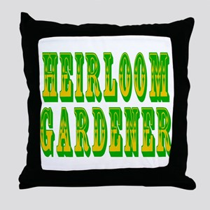 Heirloom Gardener Throw Pillow
