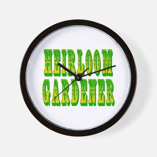 Heirloom Gardener Wall Clock