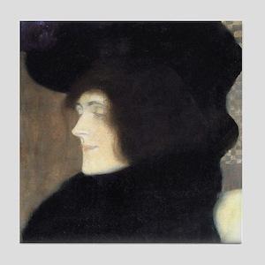 Gustav Klimt Art Tile Woman with Pale Face (1/2)