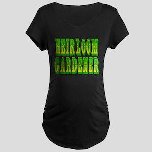 Heirloom Gardener Maternity Dark T-Shirt