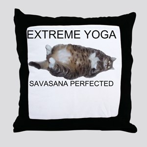 Extreme Yoga Throw Pillow