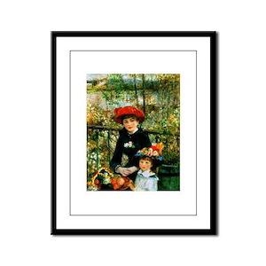 Renoir Two Sisters Framed Panel Print