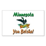 Minnesota You Betcha Sticker (Rectangle 10 pk)
