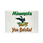 Minnesota You Betcha Rectangle Magnet (10 pack)