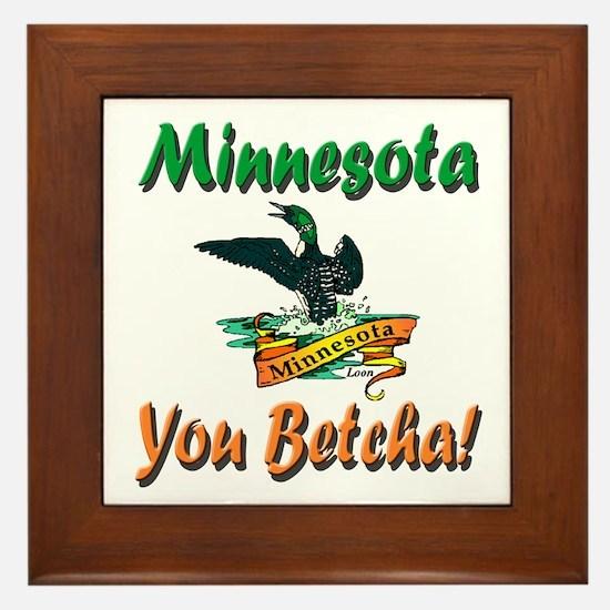 Minnesota You Betcha Framed Tile