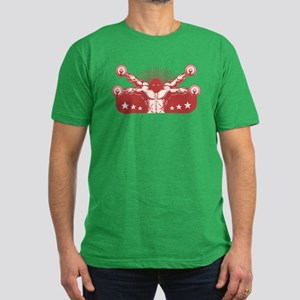 Vitruvian Reps Men's Fitted T-Shirt (dark)