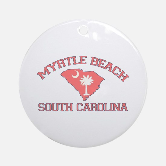 Myrtle Beach SC - Map Design Ornament (Round)