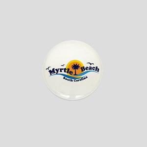 Myrtle Beach SC - Waves Design Mini Button