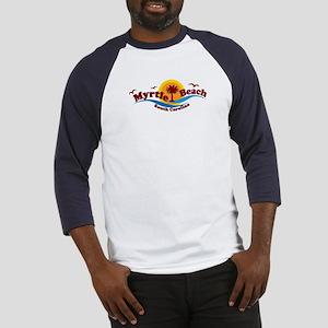 Myrtle Beach SC - Waves Design Baseball Jersey