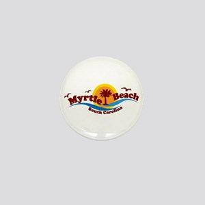 Myrtle Beach SC - Waves Design Mini Button