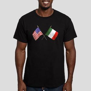 Italian American Men's Fitted T-Shirt (dark)
