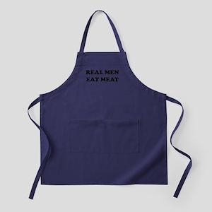 Real Men eat meat Apron (dark)