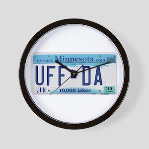 """Minnesota """"Uffda"""" Wall Clock"""