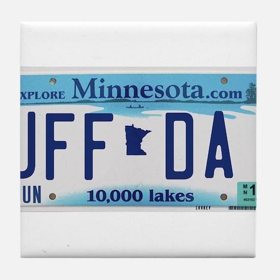 "Minnesota ""Uffda"" Tile Coaster"