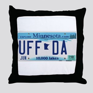 "Minnesota ""Uffda"" Throw Pillow"