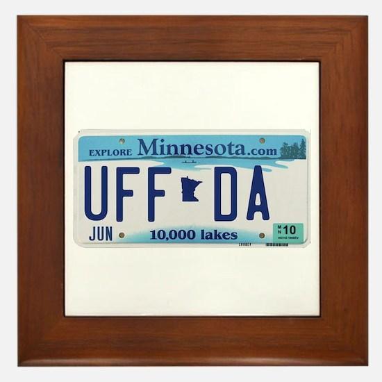 """Minnesota """"Uffda"""" Framed Tile"""