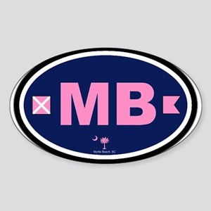 Myrtle Beach SC - Oval Design Oval Sticker