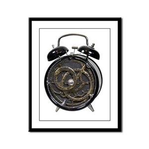 Astrolabe alarm clock Framed Panel Print