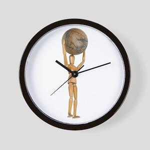 Atlas holds the world Wall Clock