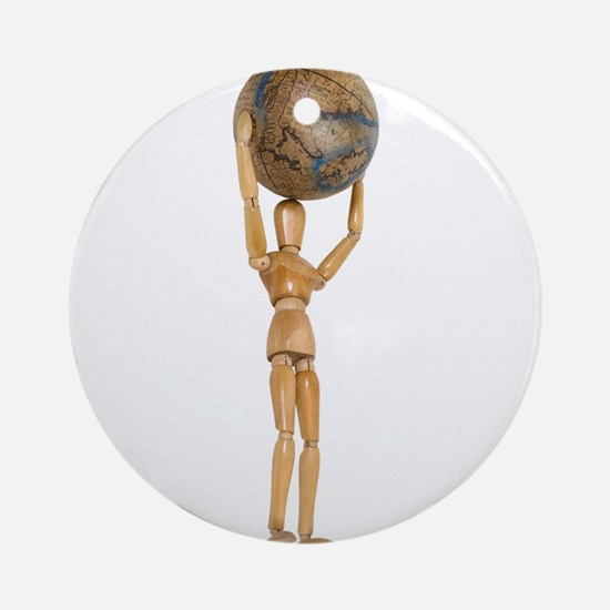 Atlas holds the world Ornament (Round)