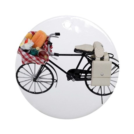 Bicycle picnic Ornament (Round)