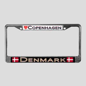 Copenhagen, DENMARK - License Plate Frame