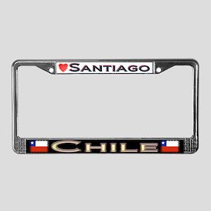 Santiago, CHILE - License Plate Frame