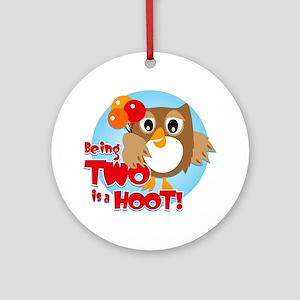 Owl 2nd Birthday Ornament (Round)