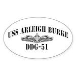 USS ARLEIGH BURKE Sticker (Oval)