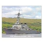 USS ARLEIGH BURKE Small Poster