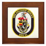 USS ARLEIGH BURKE Framed Tile