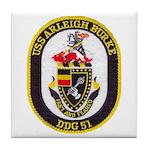 USS ARLEIGH BURKE Tile Coaster