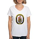 USS ARLEIGH BURKE Women's V-Neck T-Shirt