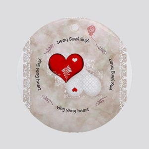 Vintage lace heart Ornament (Round)