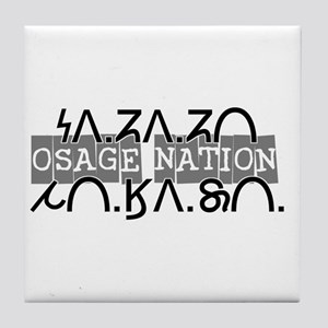 Osage Nation w/ Osage Writing Tile Coaster