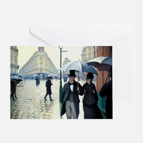 Paris Street, Rainy Day Greeting Card